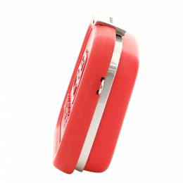 Balenciaga Red Recycled Plastic/Leather Lunch box Mini Case Bag 372626