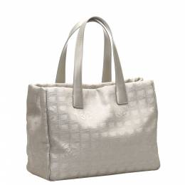 Chanel Grey Canvas Leather New Travel Line Tote Bag 369935