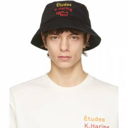 Etudes Black Keith Haring Edition Training Bucket Hat E18S-827-01