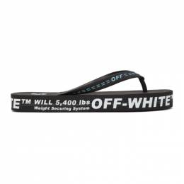 Off-White Black and White Weight Securing System Flip Flop Sandals OMIC002R21MAT0011001