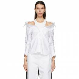 T by Alexander Wang White Off-Shoulder Shirt 4WC1211189