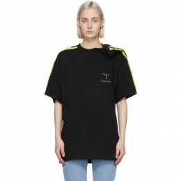 Y / Project Black and Green Y Logo Clipped Shoulder T-Shirt TS55-S20