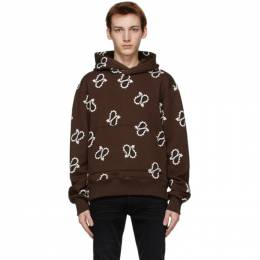 Amiri Brown Paisley All-Over Fitted Hoodie MJGH008-200