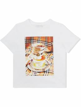 Burberry Kids teacup-print cotton t-shirt 8037614