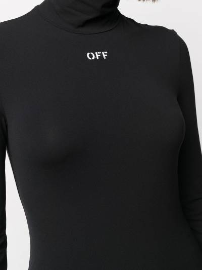Off-White HIGH NECK L/S TOP BLACK WHITE OWAD122R21FAB0011001 - 5
