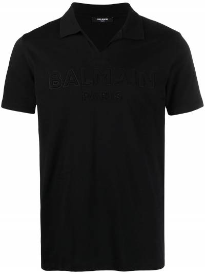 Balmain embossed-logo cotton T-shirt VH1GB005B038 - 1