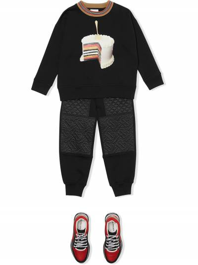 Burberry Kids TEEN quilted track pants 8037458 - 2
