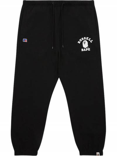 X Russell College track pants 0ZXPTM152915FBLK A BATHING APE® - 1