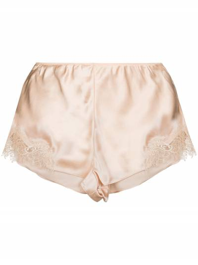 Lace trim silk shorts L27002 Sainted Sisters - 1