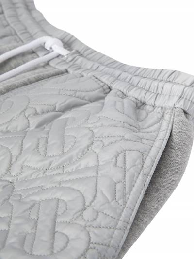 Burberry Kids TEEN monogram-quilted track shorts 8036485 - 4