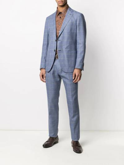 Etro check tailored wool suit 1A1021089 - 2