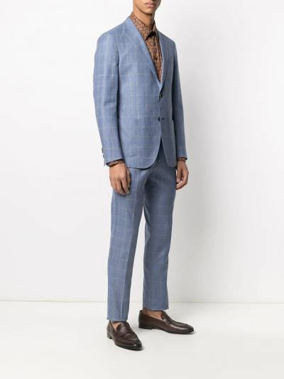 Etro check tailored wool suit 1A1021089 - 3