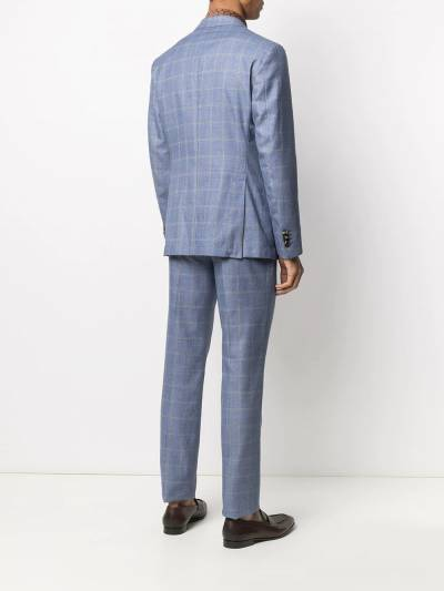 Etro check tailored wool suit 1A1021089 - 4