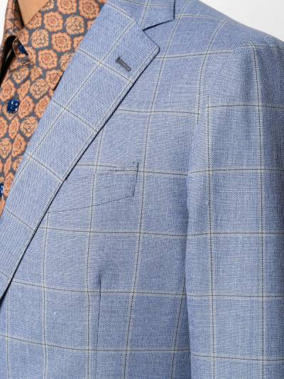 Etro check tailored wool suit 1A1021089 - 5