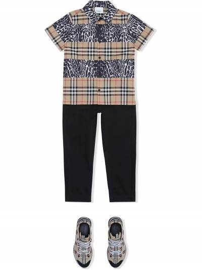 Burberry Kids TEEN Icon Stripe track pants 8030127 - 2