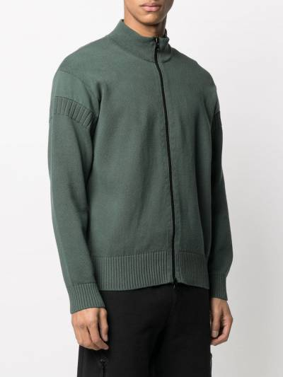 Stone Island logo patch zipped cardigan 7415508B6 - 3