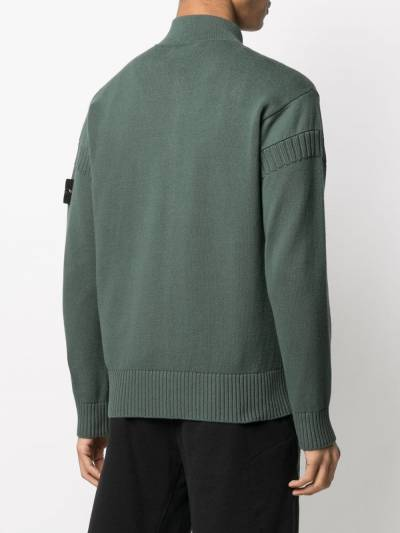 Stone Island logo patch zipped cardigan 7415508B6 - 4