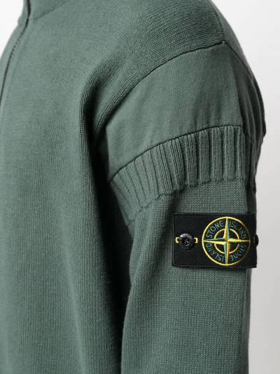 Stone Island logo patch zipped cardigan 7415508B6 - 5