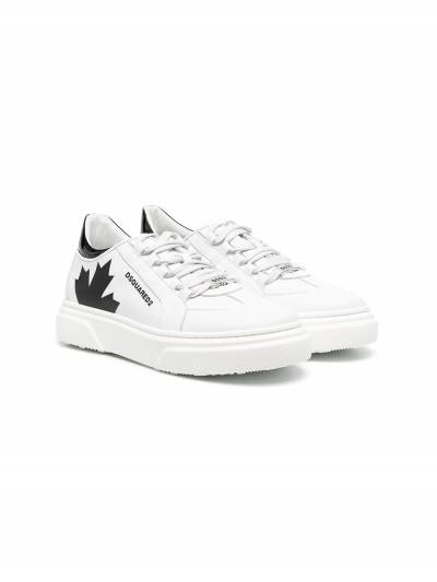 Dsquared2 Kids TEEN Maple print lace-up sneakers 67074 - 1