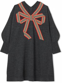 Burberry Kids TEEN Icon Stripe knitted dress 8033057