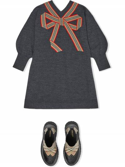 Burberry Kids TEEN Icon Stripe knitted dress 8033057 - 2