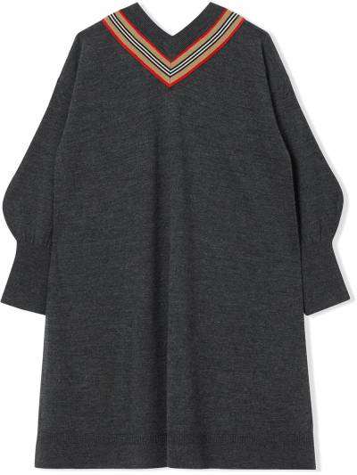 Burberry Kids TEEN Icon Stripe knitted dress 8033057 - 3