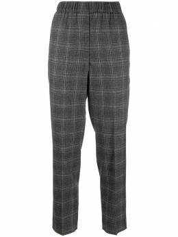 Peserico cropped checked trousers P0457208305