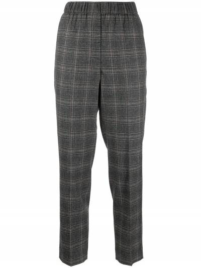Peserico cropped checked trousers P0457208305 - 1
