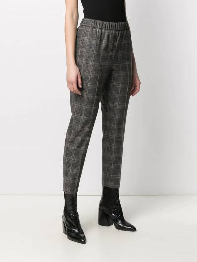 Peserico cropped checked trousers P0457208305 - 3