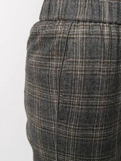 Peserico cropped checked trousers P0457208305 - 5