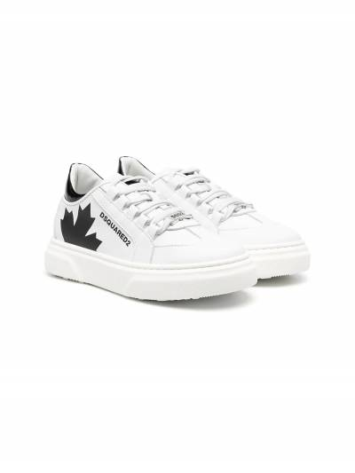 Dsquared2 Kids Maple print lace-up sneakers 67074 - 1