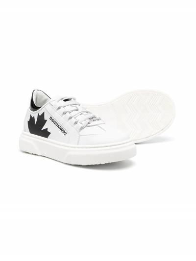 Dsquared2 Kids Maple print lace-up sneakers 67074 - 2
