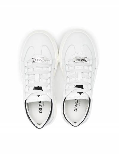 Dsquared2 Kids Maple print lace-up sneakers 67074 - 3