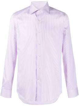 Canali fine stripe cotton shirt NX58GR01592