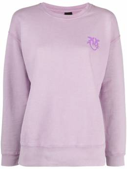 Pinko embroidered-logo cotton sweatshirt 1G1639Y72ZY37