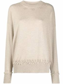 Barrie cashmere embroidered jumper C27394
