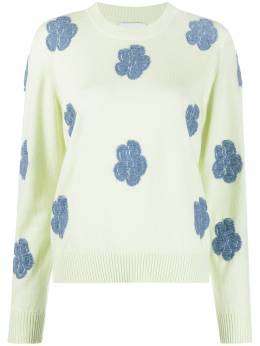 Barrie embroidered-floral jumper C156397