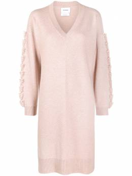 Barrie embroidered cashmere dress C30495