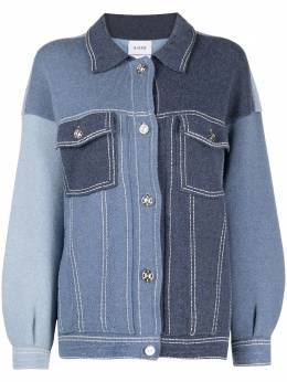 Barrie patchwork buttoned cardigan C160298