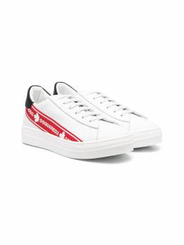 Dsquared2 Kids Red Tape leather sneakers 67065