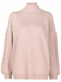 Barrie embroidered rollneck jumper A00C30368