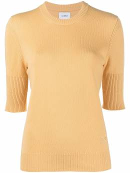 Barrie short-sleeve cashmere knitted top C120319