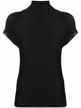 Issey Miyake pleated rollneck top IM08FJ404