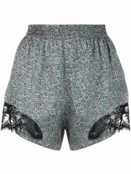 Paco Rabanne lace-panel floral-print shorts 21PCPA069PO0273