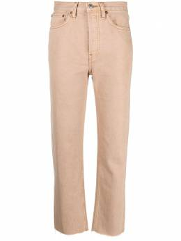Re/done high-rise straight-leg jeans 1843WSTV27