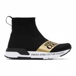 Versace Jeans Couture Black Dynamo Institutional Logo Sneakers EE0VWASA7E71935