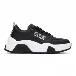 Versace Jeans Couture Black and White Logo Sneakers EE0VWASF4E71957