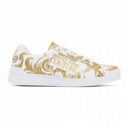 Versace Jeans Couture White Barocco Sneakers EE0VWASP7E71973