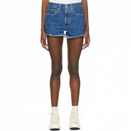 Levi's Blue Denim 501 Original Shorts 56327-0207