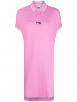 Tommy Hilfiger embroidered-logo polo dress DW0DW09854